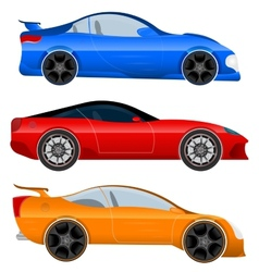Design a sports car and muscle car vector