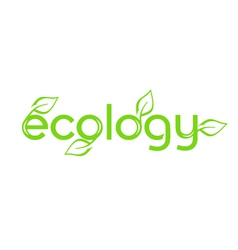 ecology word vector image