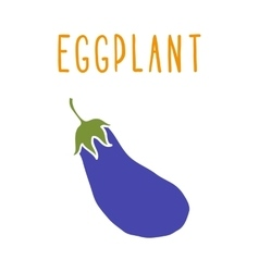 Eggplant isolated on white vector image vector image