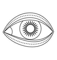eyelid surgery icon outline style vector image