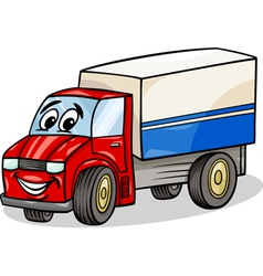 funny truck car cartoon vector image vector image