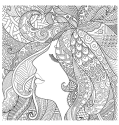 Girl sleep coloring vector