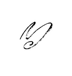 letter y handwritten by dry brush rough strokes vector image vector image