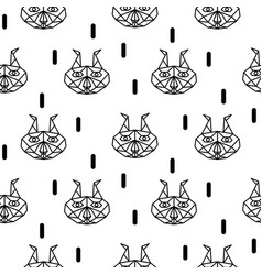 Lynx abstract animal seamless pattern vector
