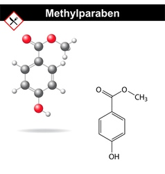 Methylparaben - food and cosmetic preservative vector