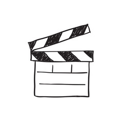 movie clapper board sketch vector image vector image