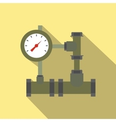 Pipe flat icon with shadow vector image