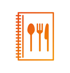 recipe book cooking menu restaurant element vector image