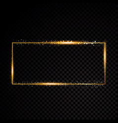 Rectangle frame shining banner isolated vector