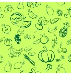 ruits and vegetables icon sketch vector image vector image