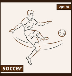 Shows a football player vector