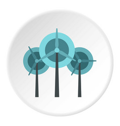 Wind turbine icon circle vector