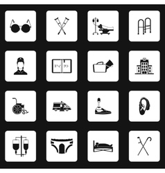 Accessibility icons set simple style vector