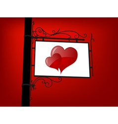 Retro love signboard vector