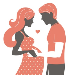 Silhouette of couple vector