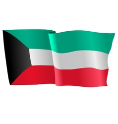 Flag of kuwait vector
