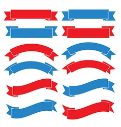 Set of old ribbon banner eps10 vector image