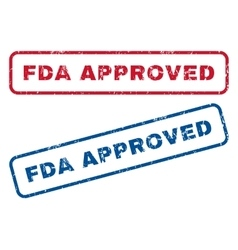 FDA Approved Rubber Stamps vector image
