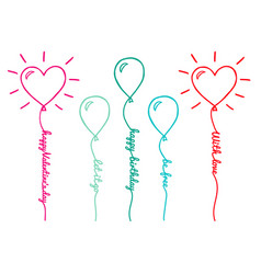 Balloons with text set vector