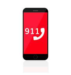 911 emergency call number mobile phone vector