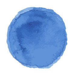 bright dark blue watercolor painted stain vector image