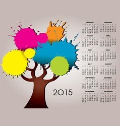 2015 splat tree calendar vector