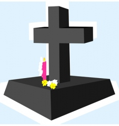 Cross with candle vector