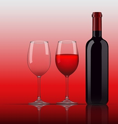 Wine Glass Bottle vector image