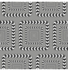 Rotating squares optical seamless pattern vector