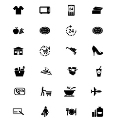 Shopping Solid Icons 2 vector image