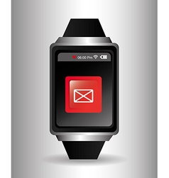 Wearable technology digital design vector