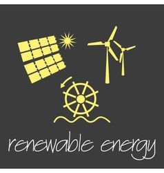 Renewable energy source symbols simple banner vector