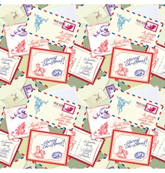 Post stamp xmas seamless 380 vector