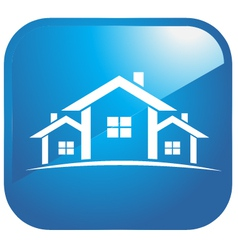 Icon set of houses vector image