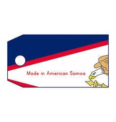 American samoa flag on price tag vector