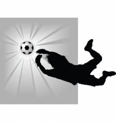 goalkeeper vector image