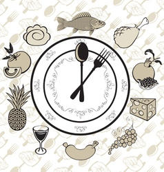 plate clock vector image