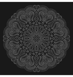 Abstrack floral circular mandala vector