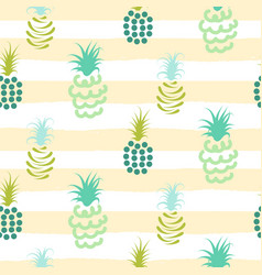 abstract pineapple pastel colors striped pattern vector image vector image