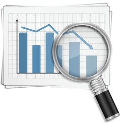 Bar Graph vector image