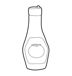 bottle of ketchup icon outline style vector image vector image