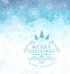 Christmas background with snowflakes and snow vector image