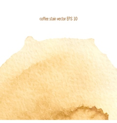 coffee abstract watercolor background vector image vector image