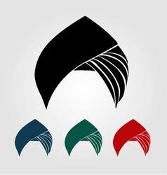 Colorful turbans or headgear vector