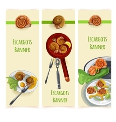 Escargout food set vector