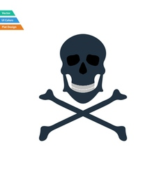 Flat design icon of poison from skill and bones vector