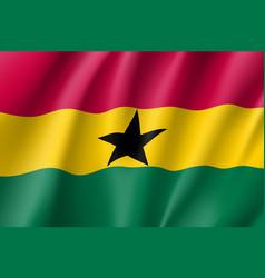 Ghana realistic flag vector