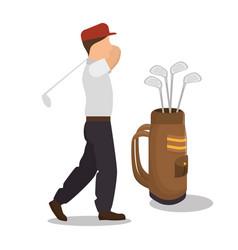 golf club sport icon vector image