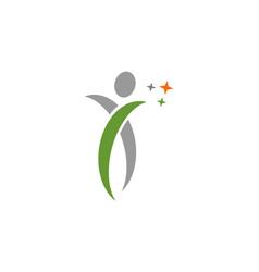 Human swoosh logo vector