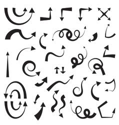 icon arrow set vector image